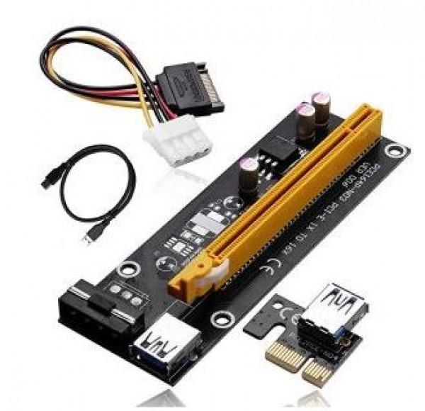 Adapter NoNAME PCE164P-N03 PCI-E 1X to 16x 3kon.