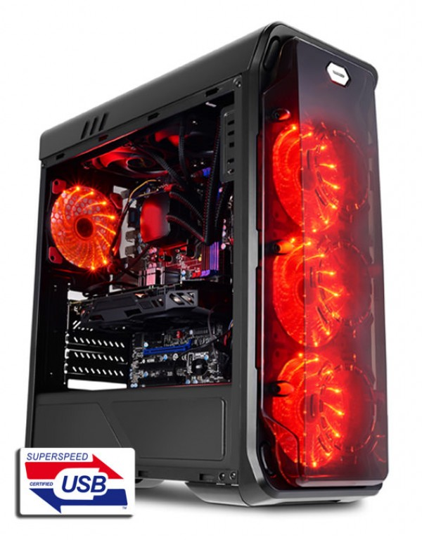 KUCISTE LC Power LC-988B-ON Red Typhoon w/o psu