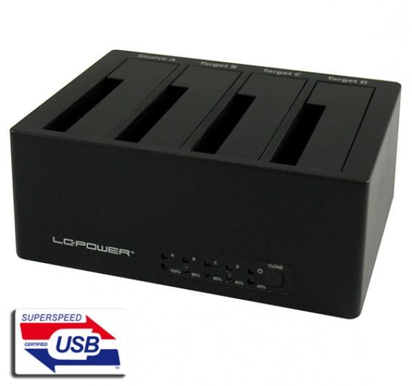 HDD D. Station 4-bay LC-DOCK-U3-4B 4xSSD/HDD, Black, USB 3.0/eSATA