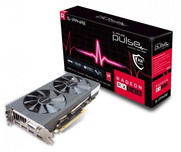 SVGA PCIE Sapphire RX580 8GB DDR5 OC 11265-05-20G