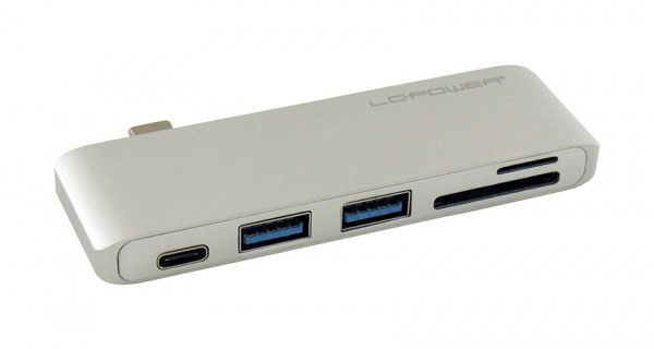 HUB LC Power LC-HUB-C-MULTI-2S 2xUSB3.0 1xCard Reader