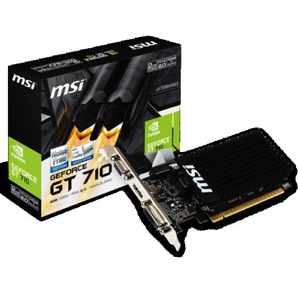 SVGA PCIE MSI GT710 2GD3H LP 64bit HDMI/DVI/VGA/