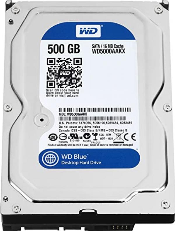 HDD WD 500GB 5000AAKS SATA2 7200 16MB Ref. Bulk