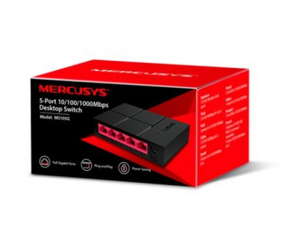 Switch Mercusys MS105G 5-port 10/100/1000Mbps