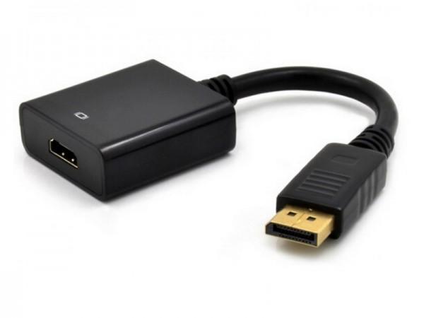 Adapter E-Green DisplayPort (M) - HDMI (F) crni