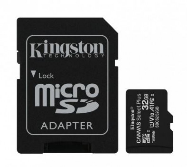Micro SD Kingston 32GB SDCS2/32GB + SD adapter