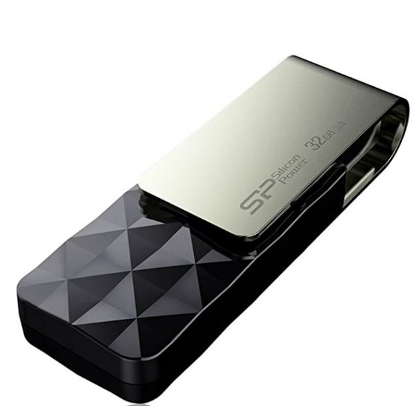 Flash Drive Silicon Power 32GB Blaze B30 USB3.0 SP032GBUF3B30V1K Black