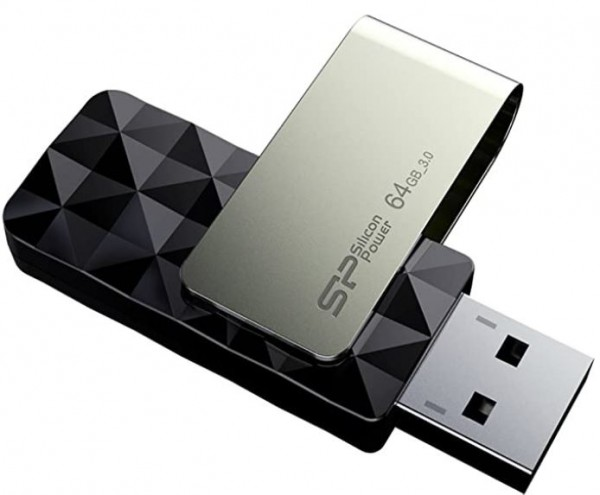 Flash Drive Silicon Power 64GB Blaze B30 USB3.0 SP064GBUF3B30V1K Black