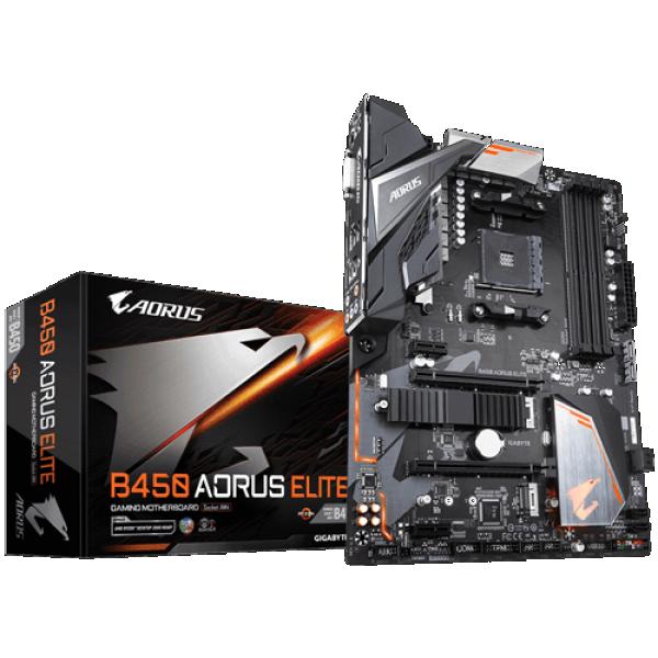 MB AM4 GIGABYTE AMD B450 AORUS ELITE