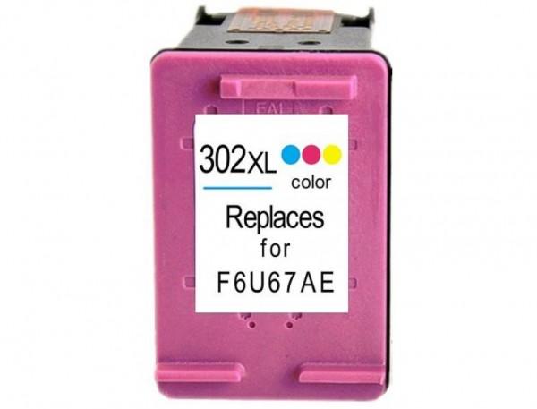 Cartridge Wox F6U67AE 302XL Tri Color