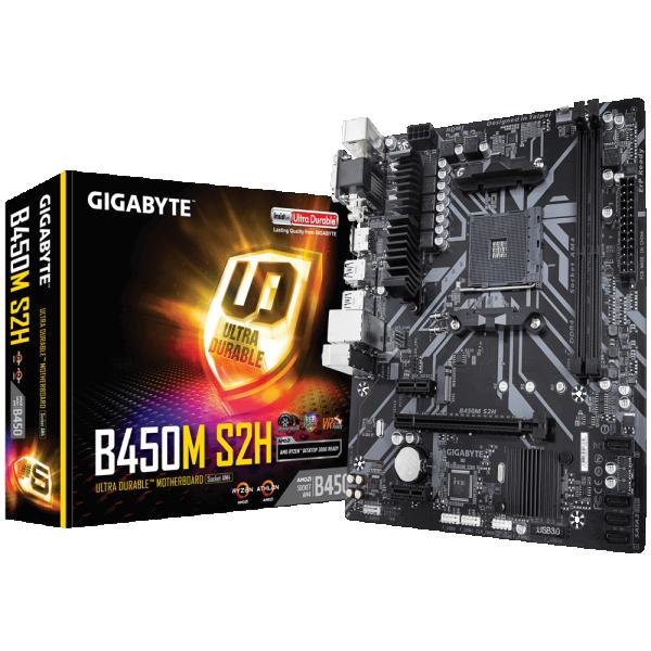MB AMD AM4 Gigabyte B450M S2H 1.0 M/B