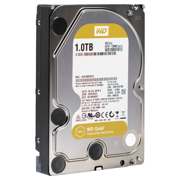 HDD WD 1TB WD1005FBYZ SATA3 128MB Gold