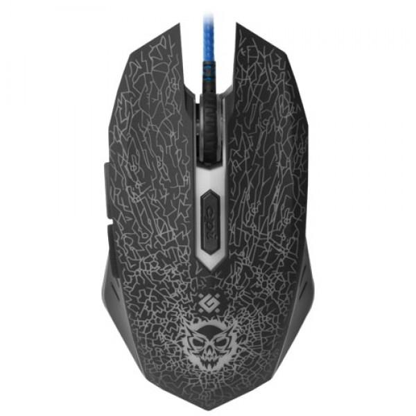 Miš Defender Shock GM-110L gejmerski žični USB, crni