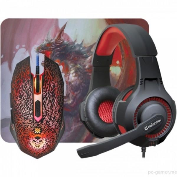 Slušalice+miš+podloga Defender Dragonborn MHP-003, gejmerske