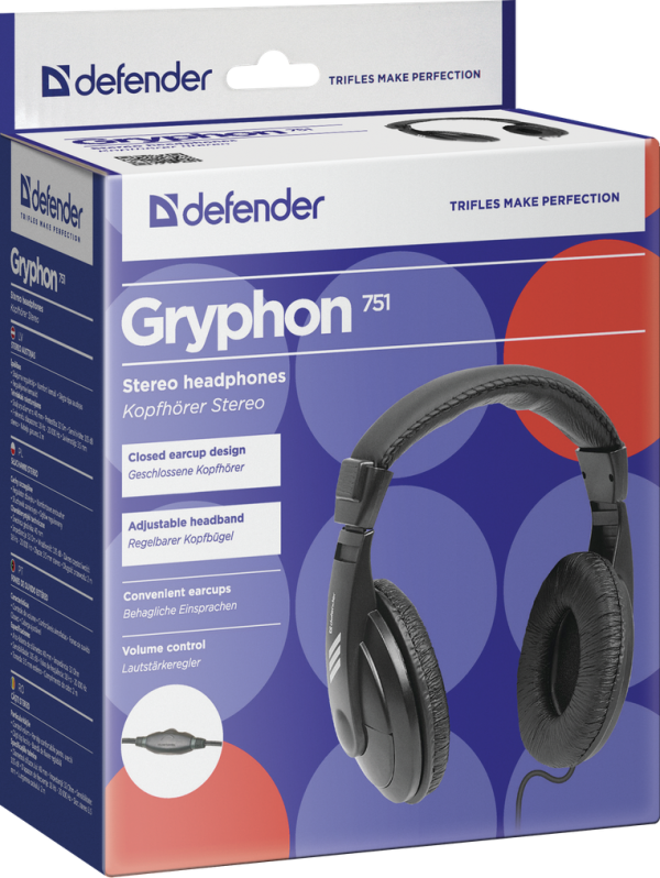 Slušalice  Defender Gryphon 751, crne
