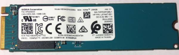 SSD KIOXIA Corporation 256GB NVMe KBG40ZNV256G Bulk