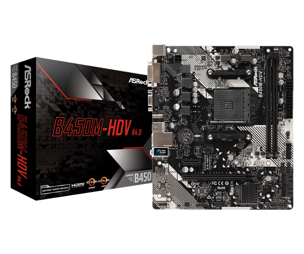 MB AsRock AMD AM4 B450M-HDV R4.0