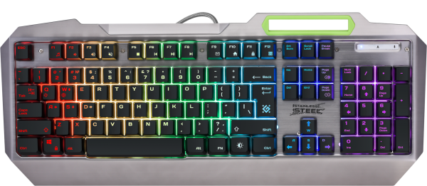 Tastatura Defender Stainless steel GK-150DL USB US Rgb