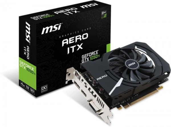 SVGA PCIE MSI GeForce GTX 1050Ti AERO ITX 4G OCV1