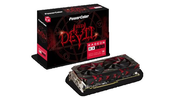 SVGA PCIE Power Color RX580 8GBD5-3DH/OC RedDevil