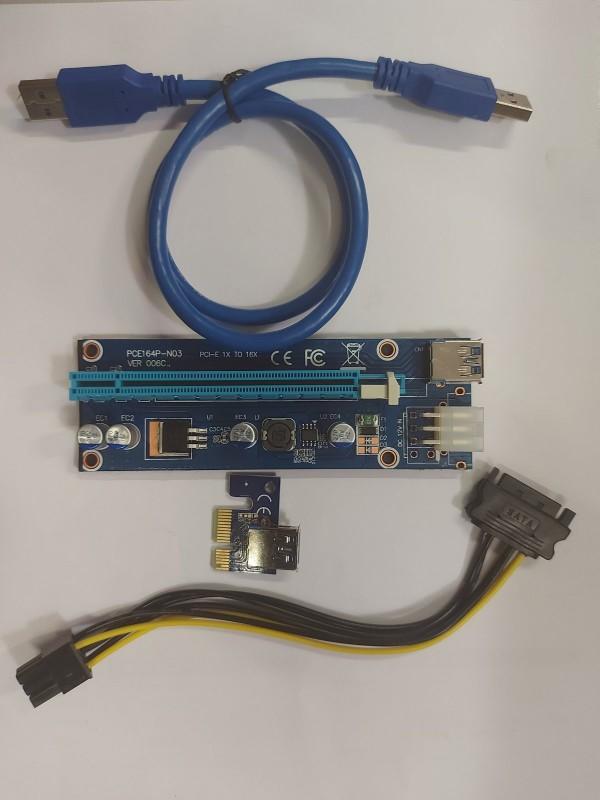 Adapter NoNAME USB Riser/Extender 6-pin 006c