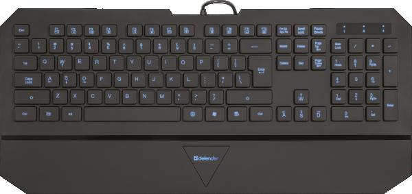 Tastatura Defender Oscar SM-660L Pro US Black 4backlight