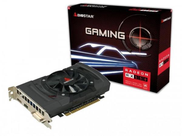 SVGA PCIE BIOSTAR RX550 4GB GDDR5 128 bit DVI/DP/HDMI