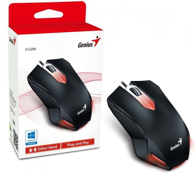 Mouse USB Genius X-G200 Black