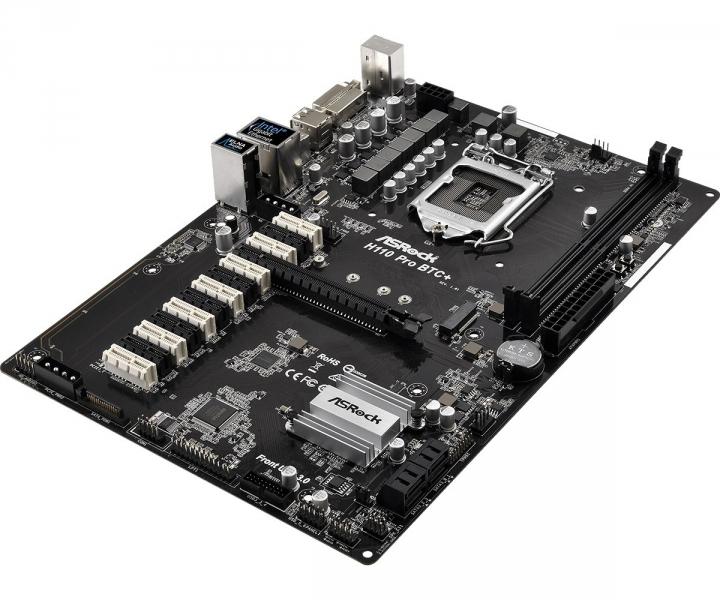 MB s1151 ASROCK H110 Pro BTC+ PCE-e/DDR4/SATA3