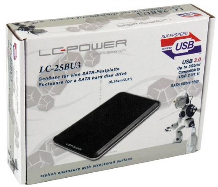 HDD Rack LC Power 2.5'' LC-25BU3 SATA Black USB3.0