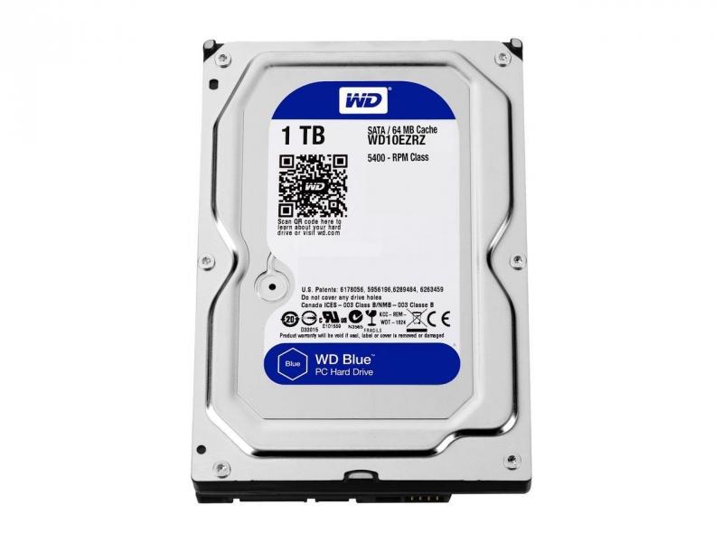 HDD WD 1TB WD10EZRZ SATA3 64MB Blue